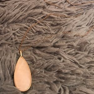 AEO Pink and Rose Gold Pendant Necklace